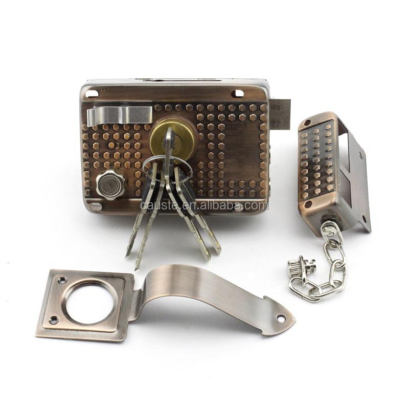 Serrures pour portes d'entrée avec clé en laiton interne serrures de porte serrure à combinaison