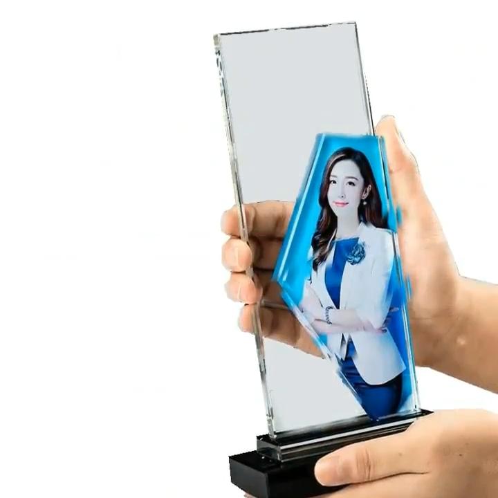 크리스탈 트로피 크리 에이 티브 다섯 스타 트로피 생산 우수한 직원 판매 챔피언 유리 트로피