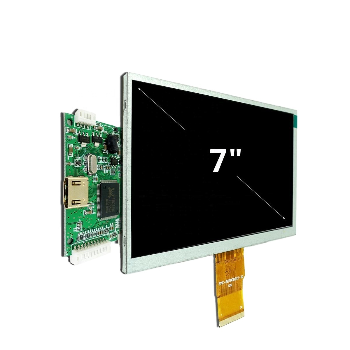 7 inç yüksek çözünürlüklü LCD modülü 1024x600 TFT LCD ekran desteği HD girişi