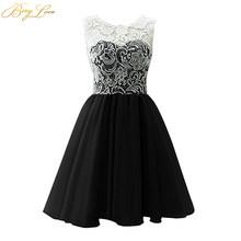 Короткое платье для выпускного вечера BeryLove, Мятное, розовое, милое мини-платье для выпускного вечера, коктейльное платье для выпускного веч...(China)
