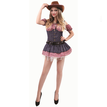 High Quality Cow Girl Costume Sexy School Girls Fancy Carnival Cosplay Party Performance Clothing For Women