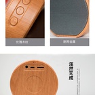 For PC Laptop Computer Bamboo Wooden Smart Subwoofer Bass Small Wireless Bt Portable Mini Bluetooth Speaker