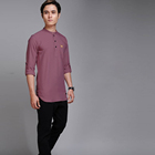 2019 Gents Kurtas Collection In India Custom top quality comfortable polyester full sleeve shirts kurta indian mens cotton kurta