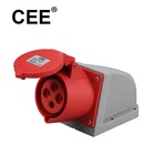 CEE 4 pin wall socket 380v industrial power socket 380v 16a 3 phase male female plug socket