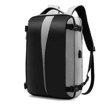 Деловой рюкзак для ноутбука, мужской рюкзак 17, мужской рюкзак с защитой от кражи, мужской рюкзак, USB зарядное устройство, черная сумка для пут...(Китай)