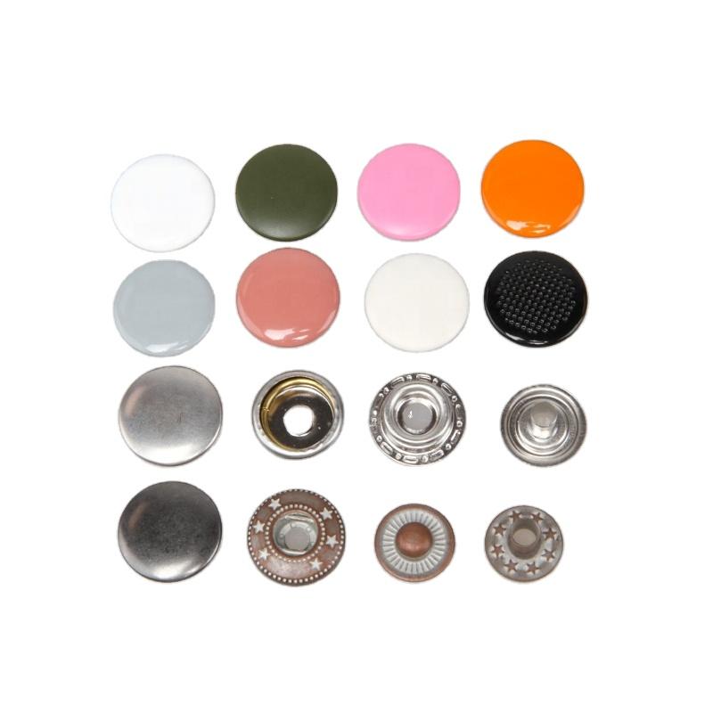 custom logo slim wallet metal snap button stud press for garment