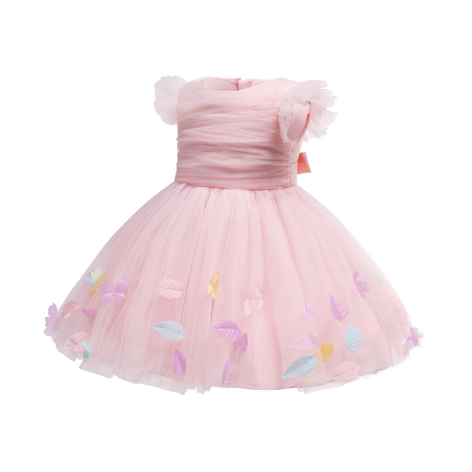 中国供給ブティックチュチュドレス用キッズ女の子新しい赤ちゃんガールドレス背中が大きく開いデザインフロック
