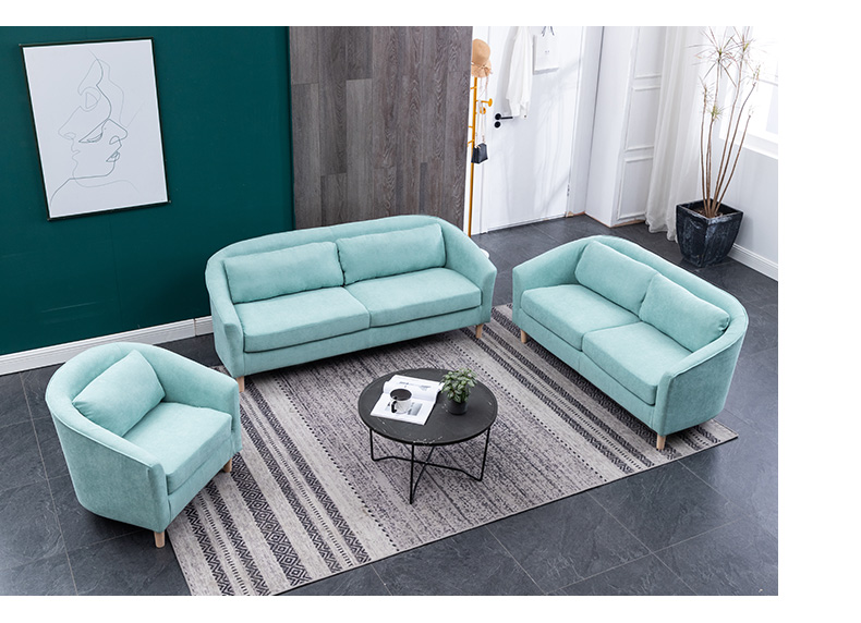Small family light sofas bed fabric drawing room Furniture small apartment modern European small family Living Room sofas set