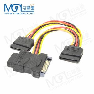 High quality Wholesale sata cable sat 15pin female 15pin male to 4pin female sate to ide cable for computer