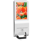 NEW Function Indoor Non-Touch ADs digital signage display 21.5inch with foaming soap hand sanitizer dispenser