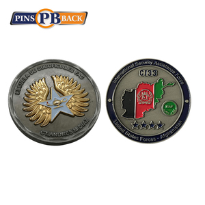 High quality custom blank 2 sided challenge metal coins