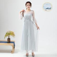 Красные Платья для подружек невесты с рукавами, 2020 г., платье для свадебной вечеринки ROM80211(Китай)