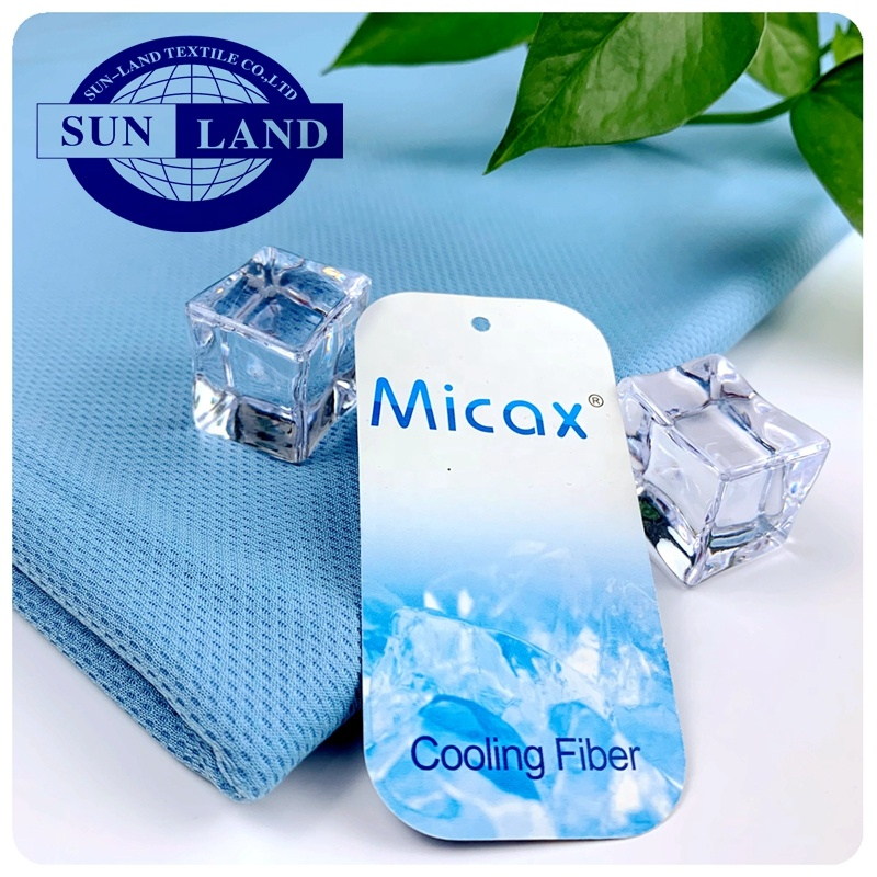 Cool Touch Quick Dry Fit Vocht Micax Cooling Nylon Poly Breien Birdeye Mesh Stof Voor Zomer Thuis Textiel