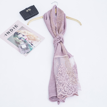 wholesale lace hot diamond scarf  women muslim  shawl scarf  hijab