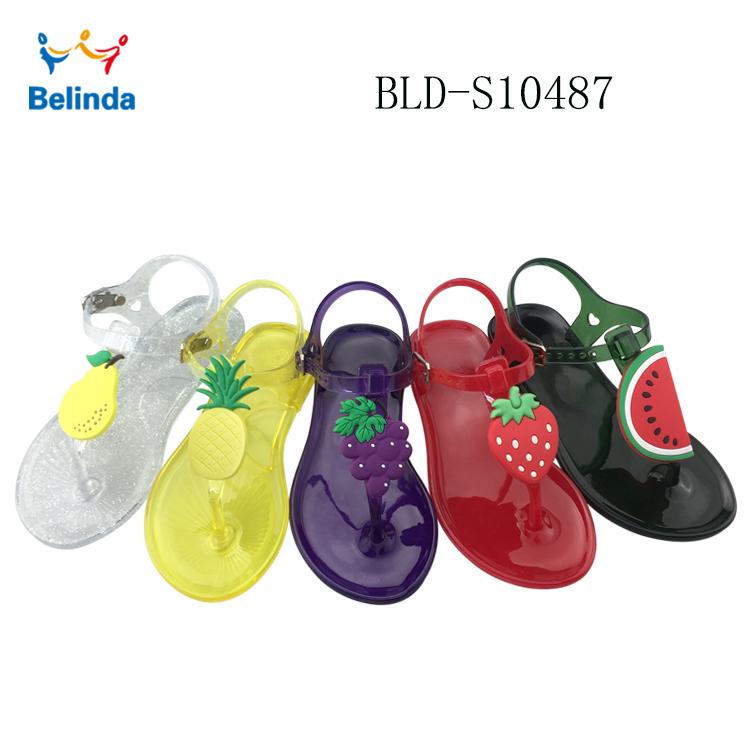 Flat Sandal Fruit Sandal Cute Wholesale Toddler Summer Jelly Kids sandals Sandals