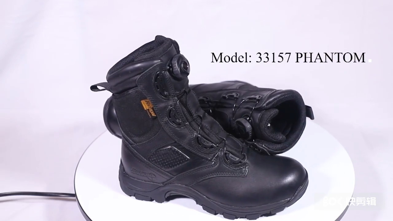 Black Swat 8 Inch Cow Hide Hard wearing Leather Rubber Military Boots Tactical