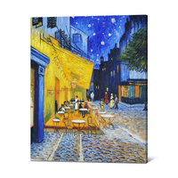Handmade Museum Quality Cafe Terrace Wall Art Decor Old Masters Oil Painting Reproduction Canvas Painting Van Gogh