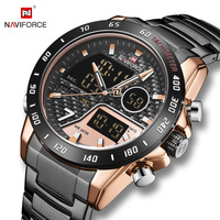 New Naviforce 9171 RGRGB Analog Digital Dual Display watches for men in Wristwatch 2020 Relogio