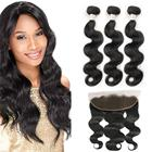 Free Shipping 10A Grade Brazilian Body Wave Virgin Hair Bundles with 13x4 Ear to Ear Lace Frontal 100% Unprocessed Human Hair
