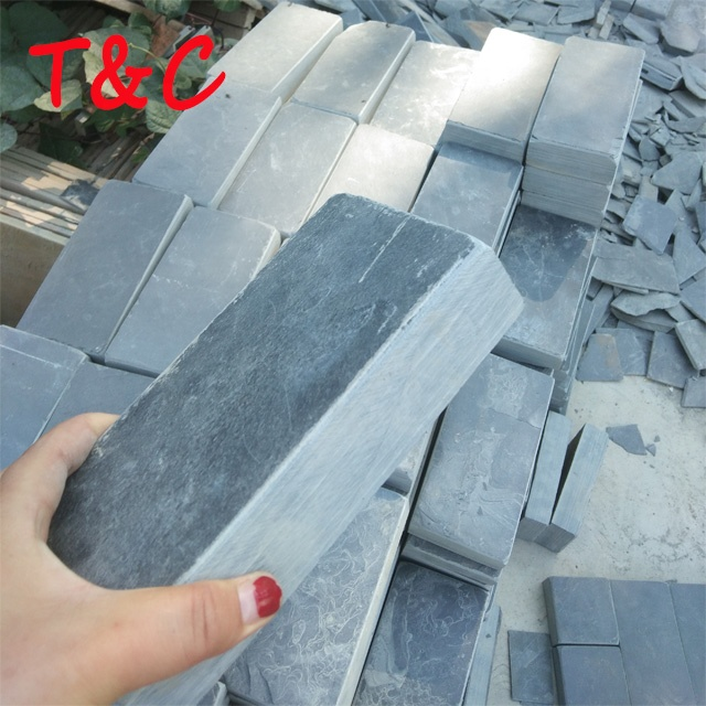 black square stone slate stone floor tile for indoor outdoor