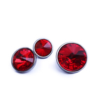 Color Crystal Shirt Decoration Button Metal Base Diamond Small Button 18L Round Clothes Cufflinks Bags Jewelry Wholesale