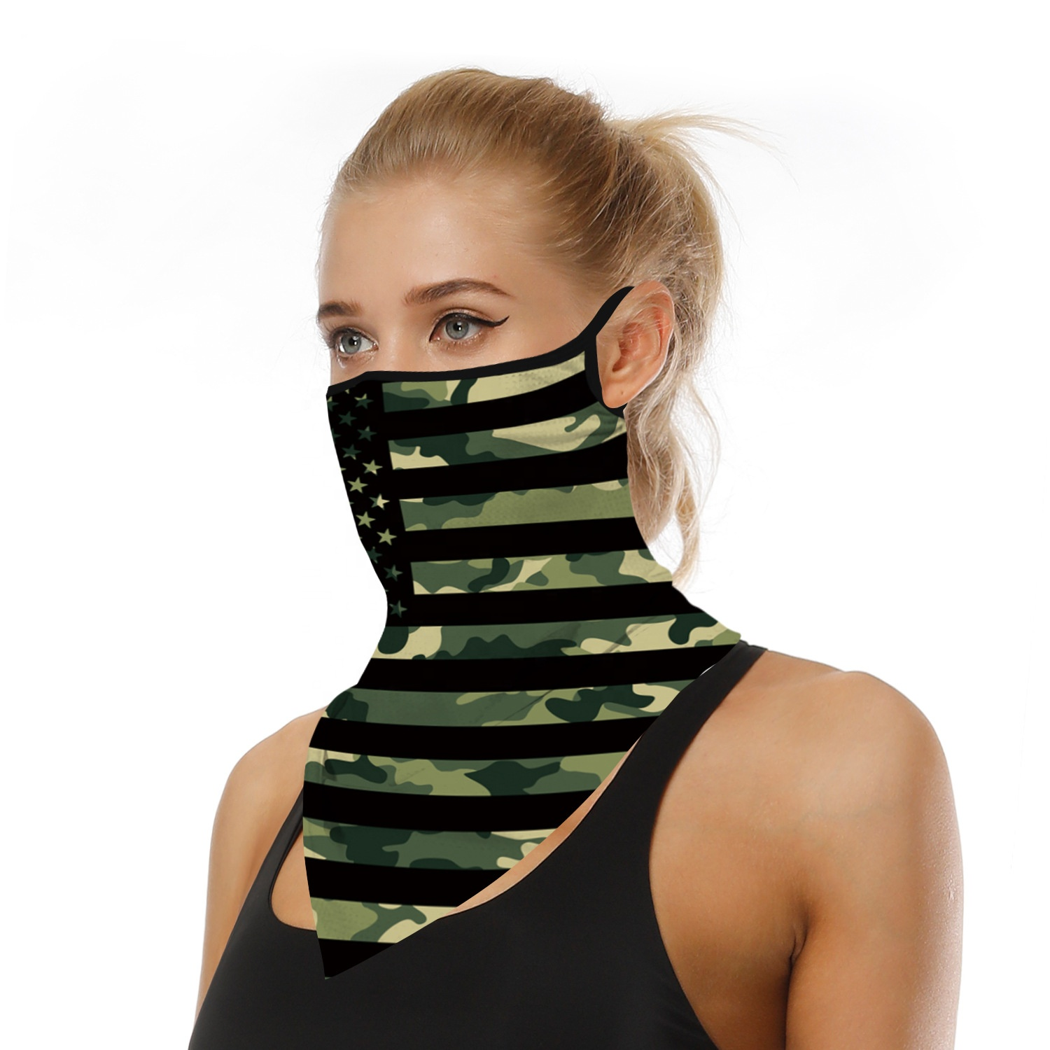 UV protection sublimation sports cycling half face cover tube <strong>scarf</strong> cooling neck gaiter <strong>customized</strong> <strong>logo</strong> for summer