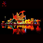 Lanterns 2020 New Outdoor Waterproof Lighted Large Holiday Decorations Animal Reindeer Fish Peacock Dragon Lanterns