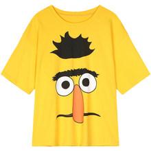 Женская футболка ELFSACK, желтая Повседневная футболка с графическим принтом в стиле Харадзюку, лето 2020(China)