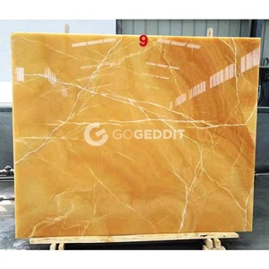 2cm Thickness Yellow Honey Onyx Marble Slab Factory Price