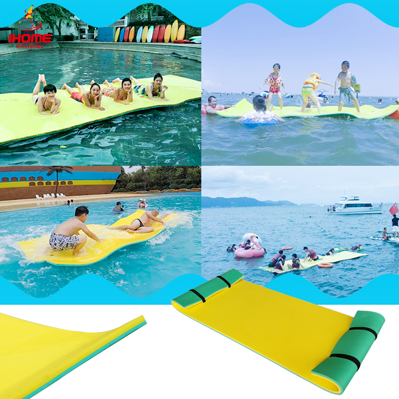 XPE Foam Fun Float Floating Mattress multicolor inflatable swimming mattress for water play equipment