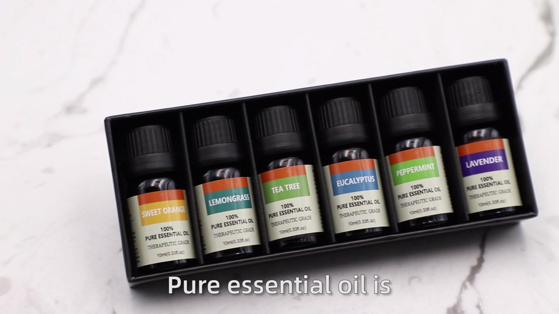 ยอดนิยมTop 12 OEMส่วนตัว100% Pure Natural Peppermint Lavender Eucalyptus Tea Tree Lemongrassน้ำมันหอมระเหยโรสแมรี่ขาย