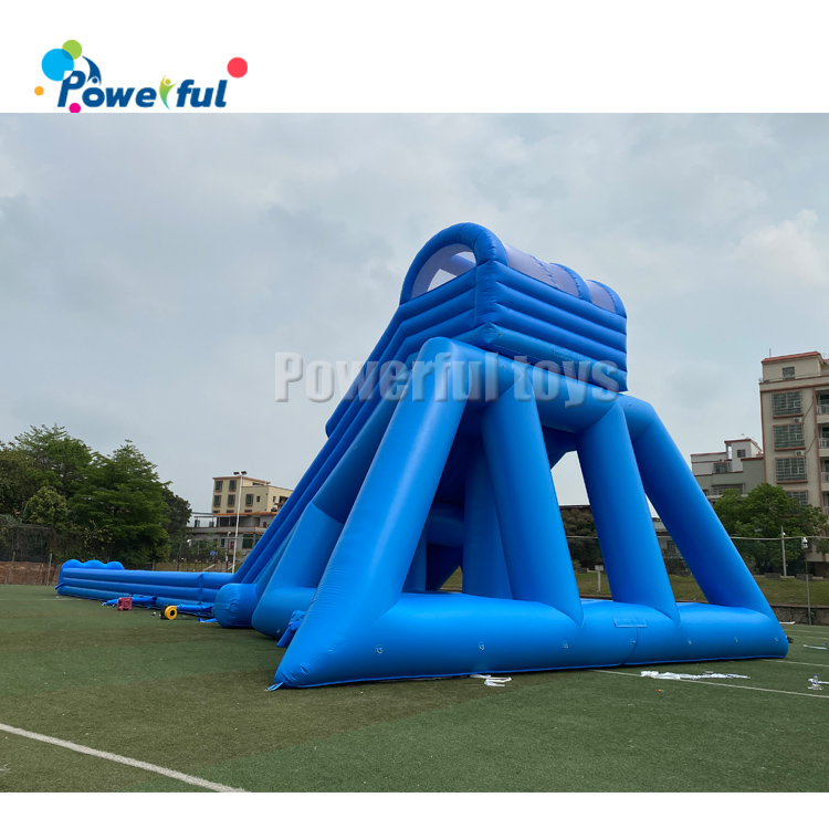 Giant water inflatable hippo slip n slide for outdoor water park