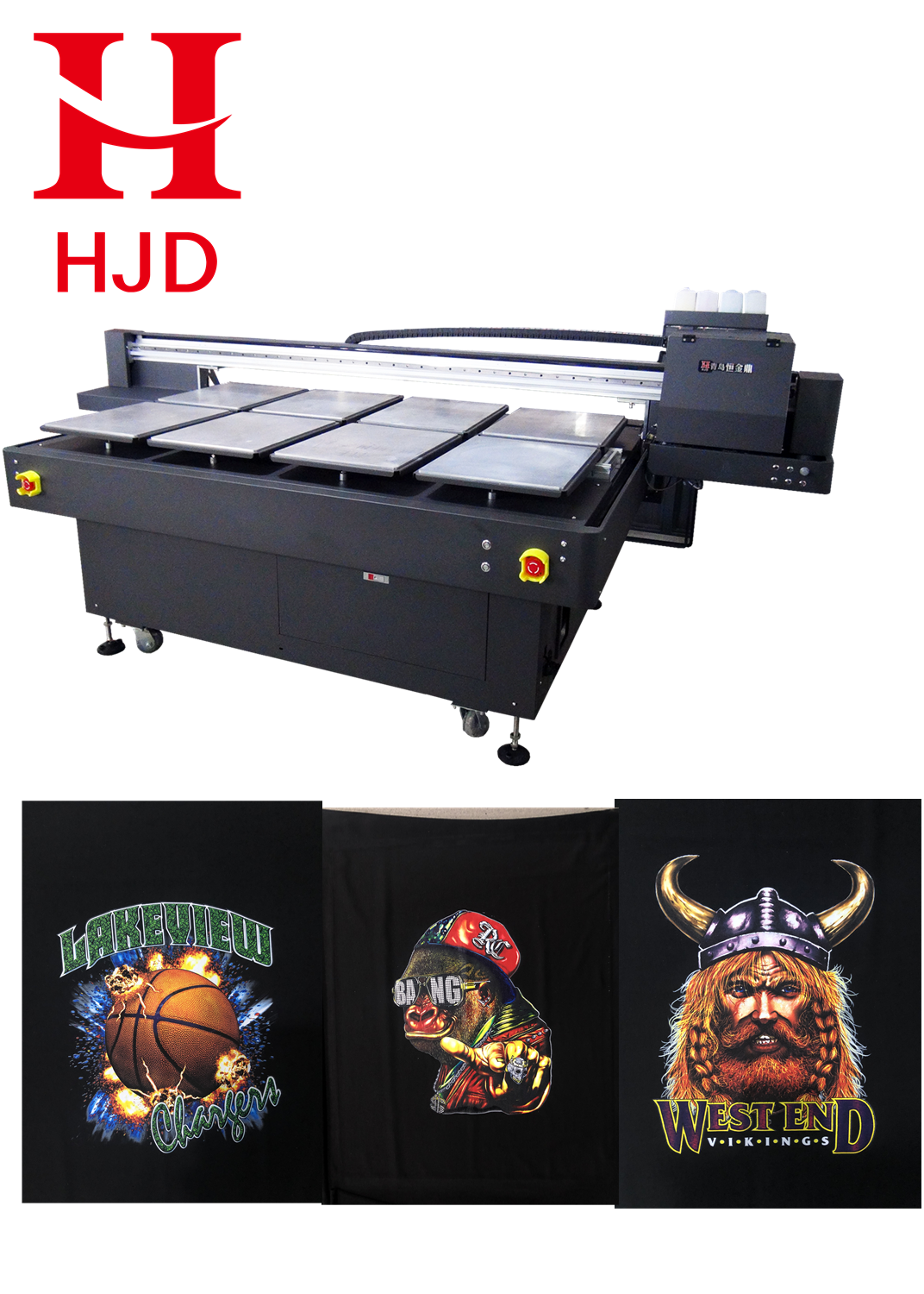 Garment Finished Printing Machine  HD Photo Computer Digital 4 Heads Inkjet Printer For Sales