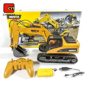 1 14 RC Huina Excavator Metal 1550 China 2.4G 15 Channel Excavator