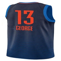 High quality Mens 2019 Embroidery Basketball Jerseys 13 Paul George 0 Russell Westbrook