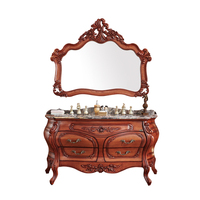 Antique Style series solid wood floor-standing large bathroom vanity