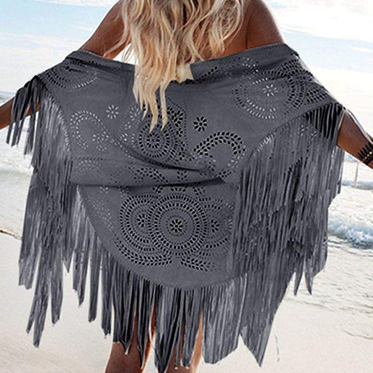Ladies <strong>Faux</strong> Sleeveless Kimono Suede Shawl Fringed Asymmetric Cape