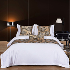 Luxury Egyptian cotton satin bed linen white queen bedclothes duvet cover