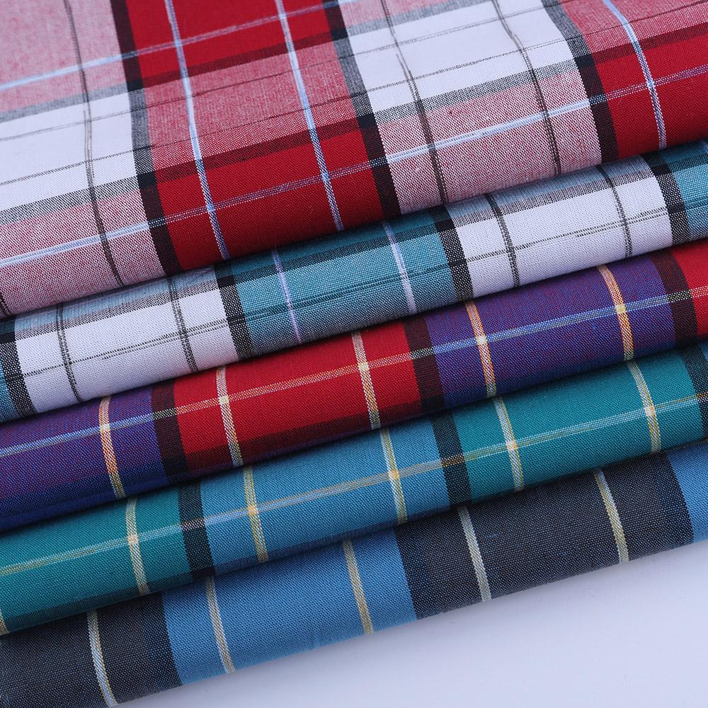 Günstige preis garn gefärbt hemden stoffe 100 baumwolle für mann