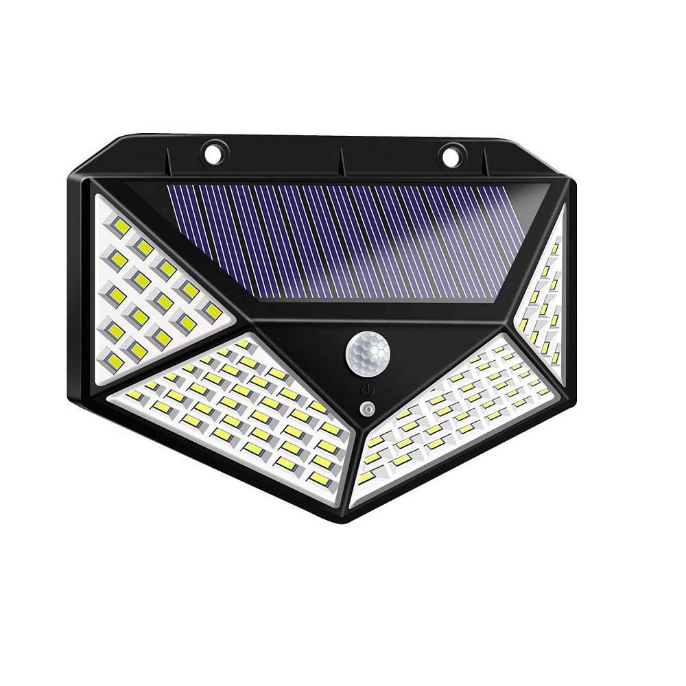 Tahan Air 100 LED Sensor Gerak Lampu Dinding Tenaga Surya Lampu Taman Outdoor