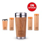 Wholesale Reusable Eco Friendly Bamboo Coffee Travel Mug Cup with Lid Custom Logo Printed Ecofriendly Feature Travel Coffee Mug