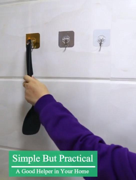 Mileqi באיכות גבוהה חזק דבק סופר דביק דקורטיבי עצמי דבק קיר רכוב pvc ומתכת ווים קולב קיר