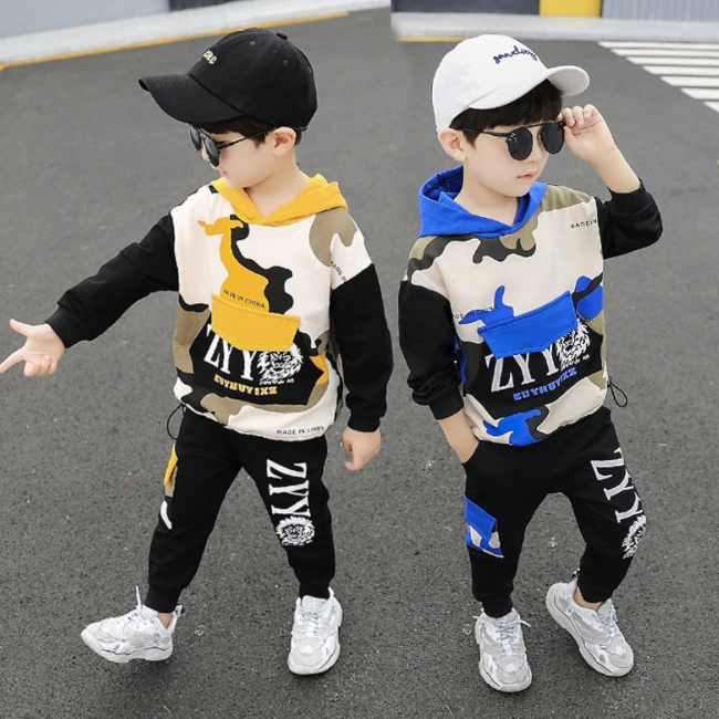 SE6515 Anak-anak Pakaian Pakaian Grosir Anak Laki-laki Set Pakaian Musim Dingin