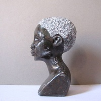Customized Stone Carved Man African Bust Sculpture