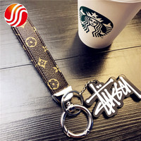 2020 Latest Designer Printed Luxury Brand Durable Pattern Unisex Gift Key Chains Beach Jewelry