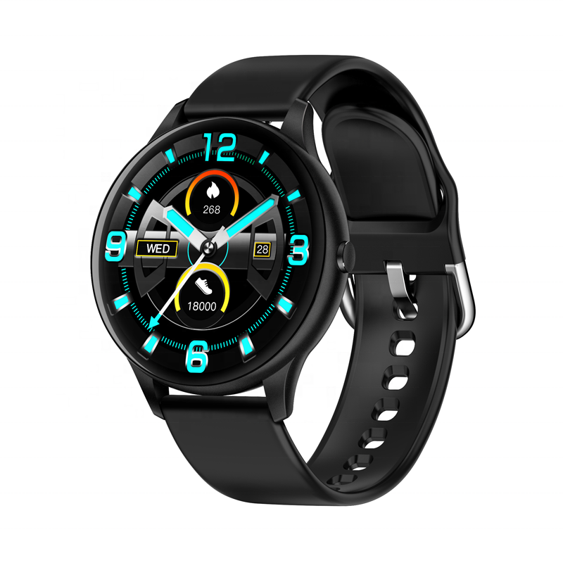 K21 smartwatch therometer support blood pressure oxygen detect Body Temperature Function 1.3 inch round Screen
