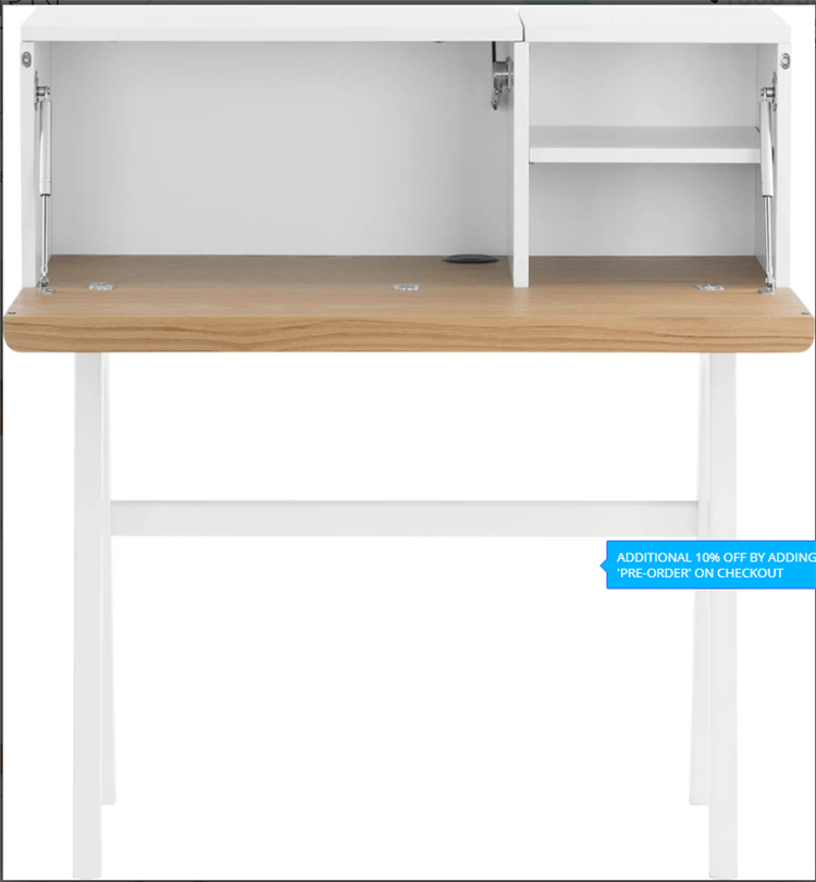 Modern and popular suitable for teenagers to study delicate white wooden table
