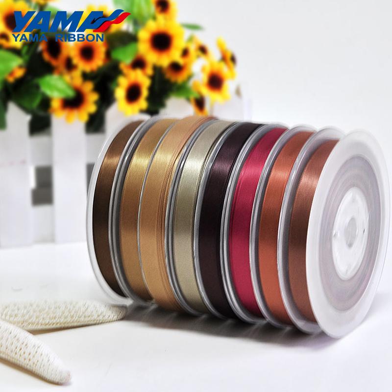 Yama Ribbon 2 inches 50mm polyester white and black satin ribbon wholesale