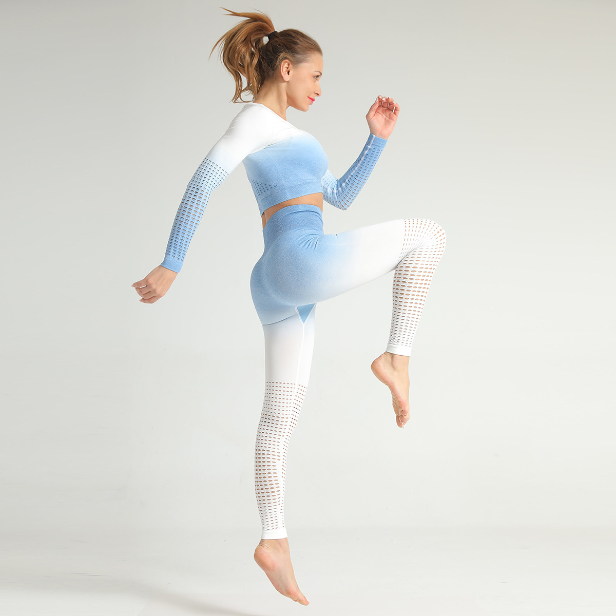 2020 Seamless Gym Leggings Sets High Waist Fitness Clothing Women Embre Yoga Sets 3