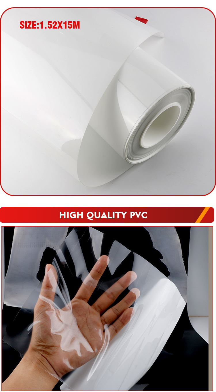 HANYA Clear Car Vinyl PVC Transparent PPF Paint Protection Film For Car Body 1.52*15m Vinyl Wrap